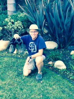 Gary and His New Salomon Quest 4D GTX Boots for Snow on the Pacific Crest Trail. (Click Image for Larger View.)