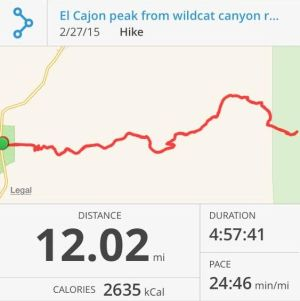 El Cajon Mountain Peak Hike Used as Training for the Pacific Crest Trail (PCT). (Click Image for Larger View.)