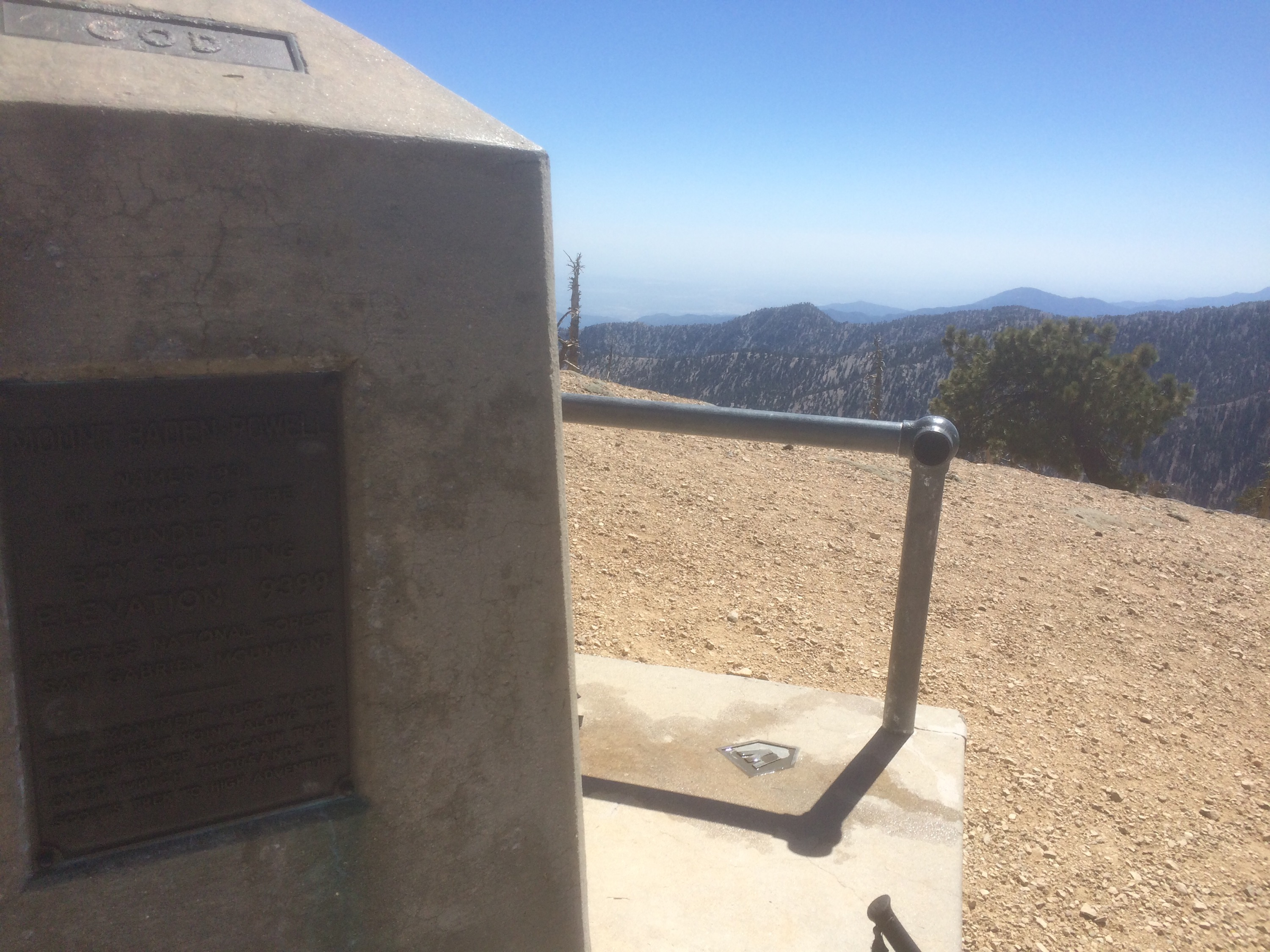 The top of Mt. Baden-Powell