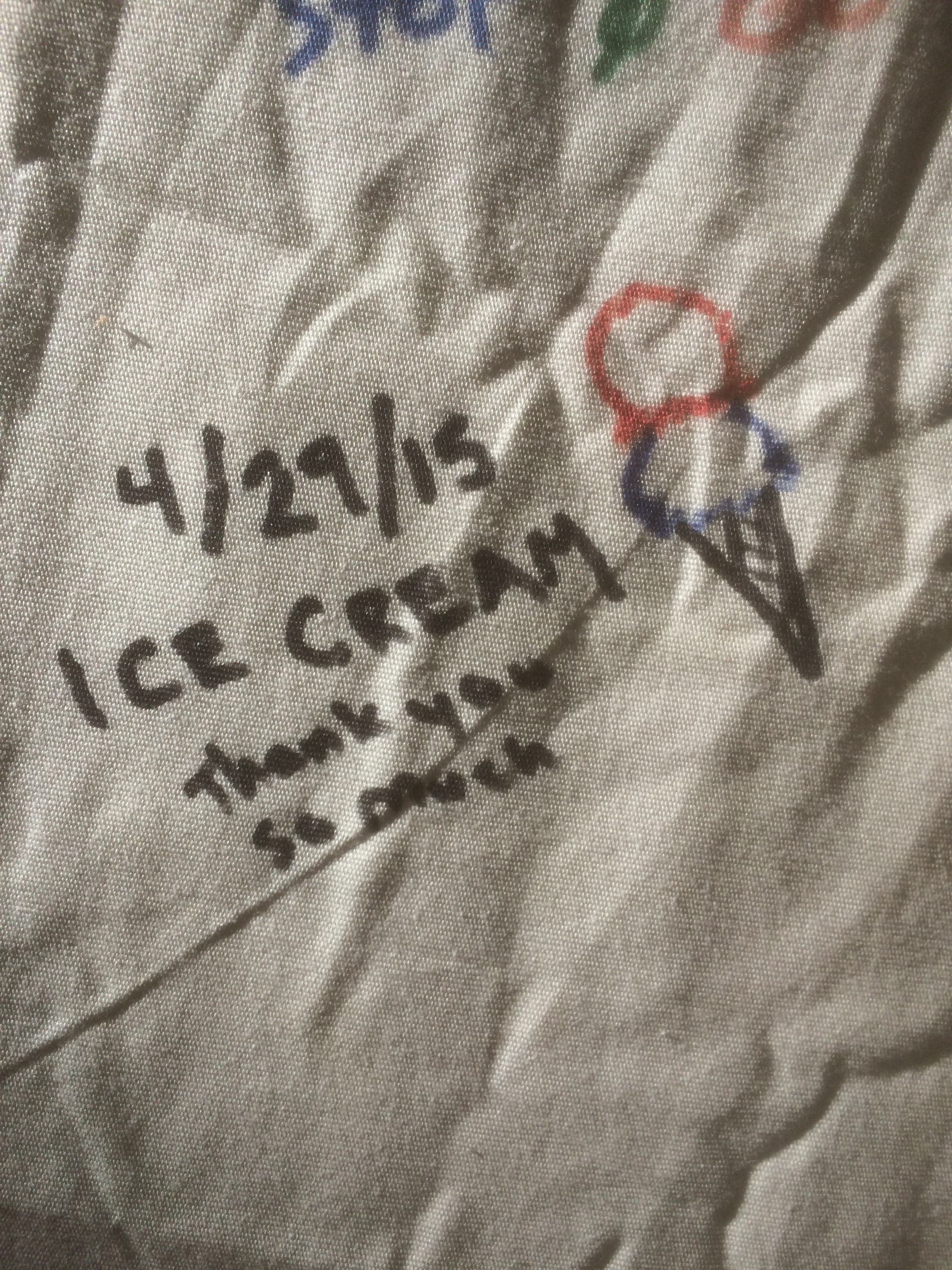 ice cream's signature at casa de luna