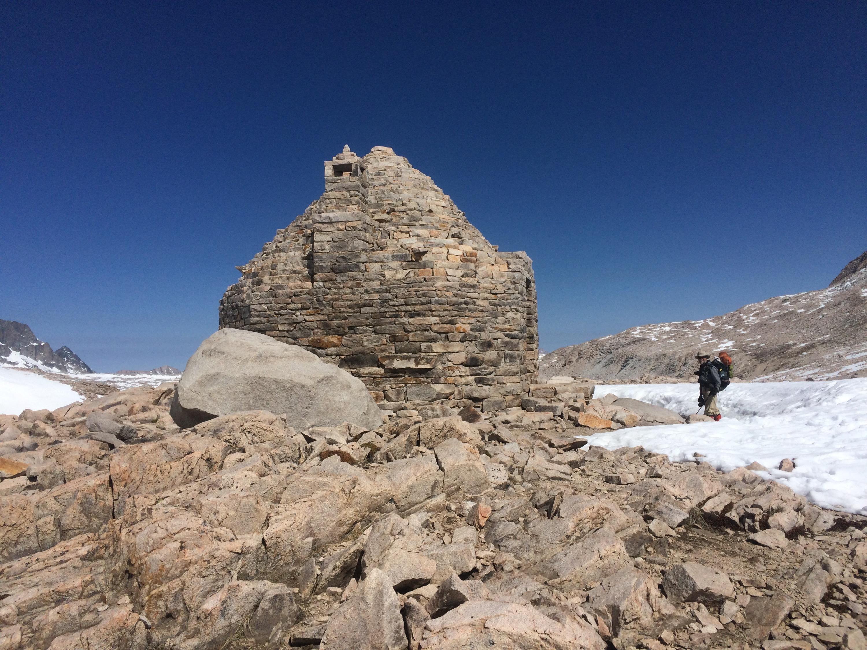 Outside the Muir Pass hut.