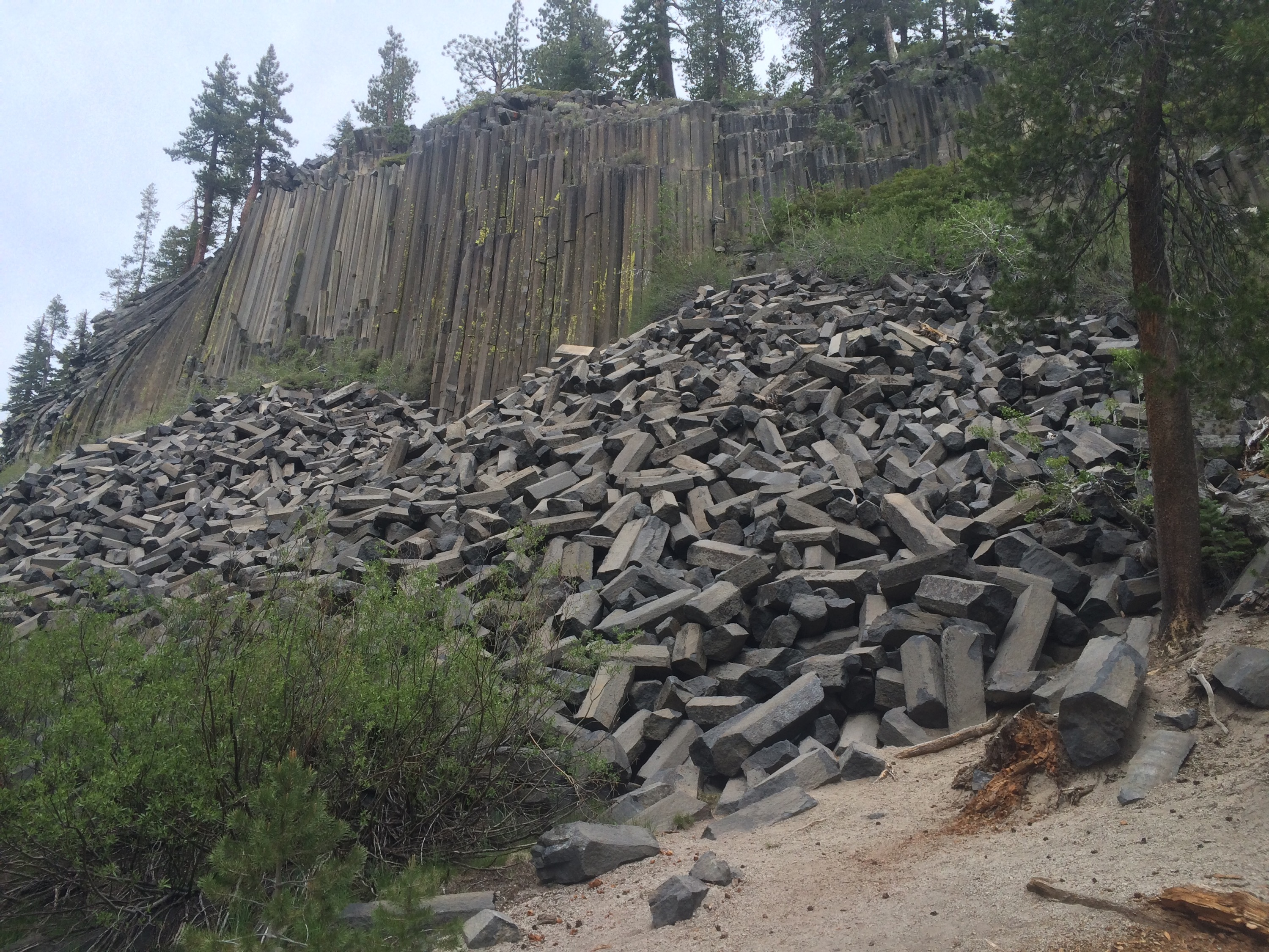The Devil's Postpile outside of Red's Meadow