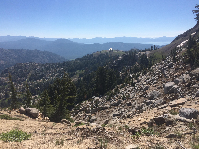 Lake Tahoe from the Granite Chief ridgeline.