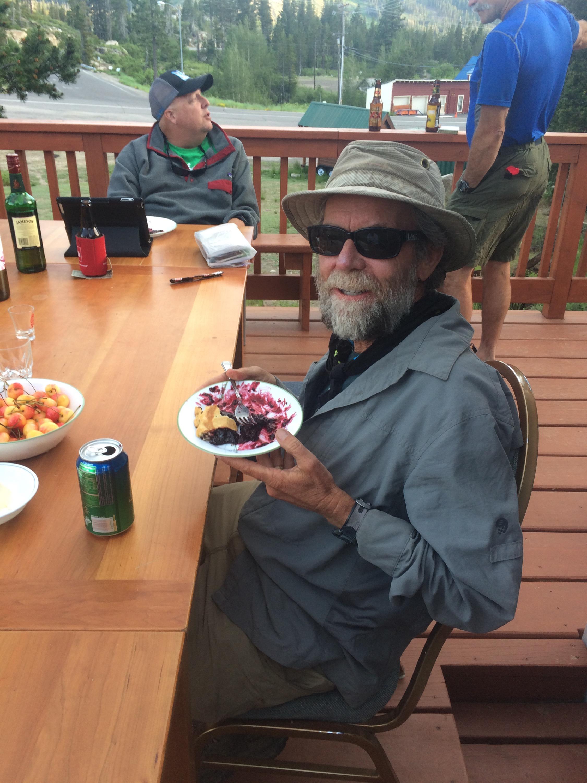 Pie got some pie at Donner Ski Ranch!
