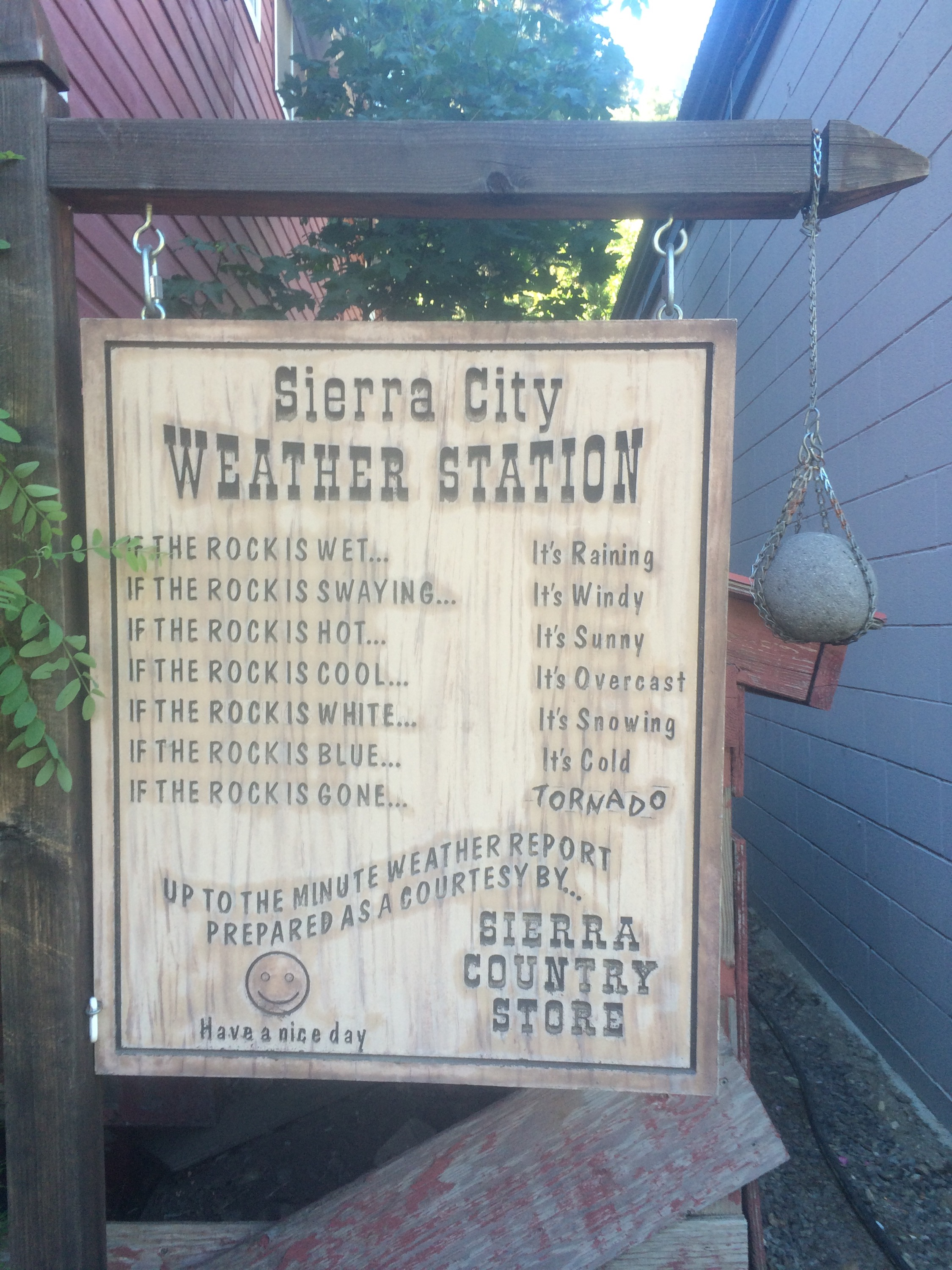 Sierra City Weather Station.