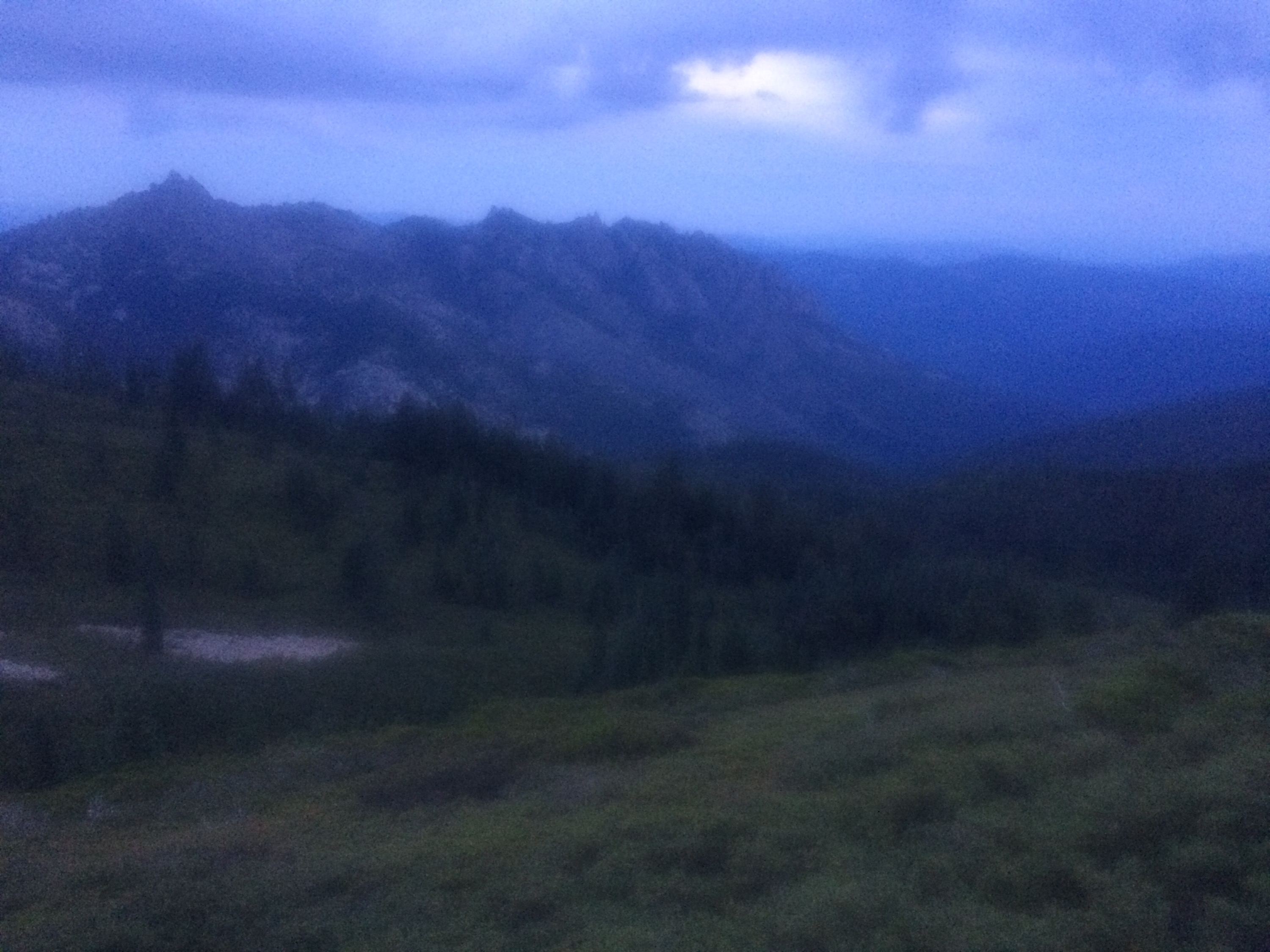 The weather in the Trinity Alps is souring.