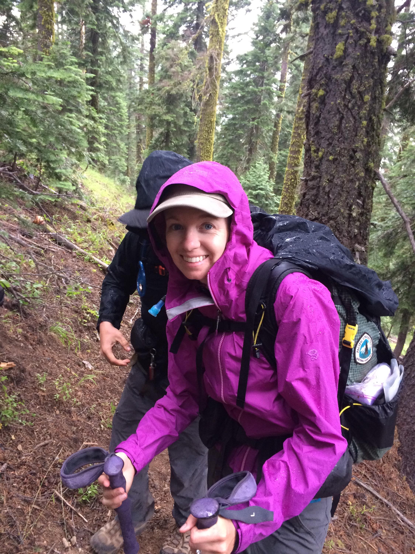 Rain hiking