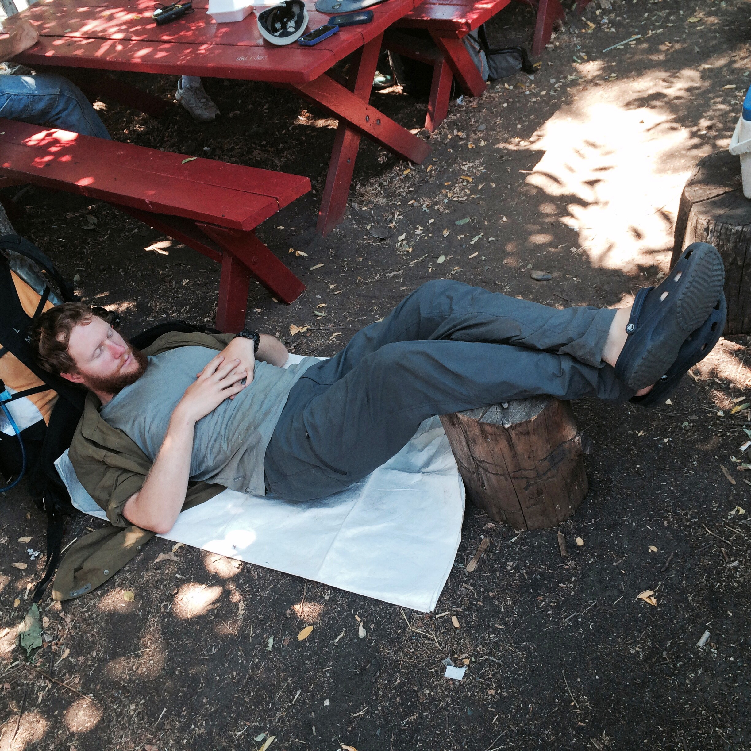 Naptime in Seiad Valley waiting out the heat.